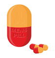 Mens pills Pills for mens health and strength vector image