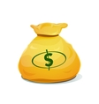 A large bag of money vector image