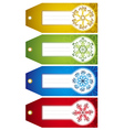 christmas labels with holiday decoration vector image