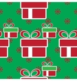 colorful Christmas gift boxes Holiday seamless vector image