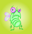cute unhappy fly vector image