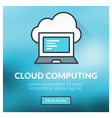 Flat design concept for cloud computing wit vector image