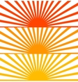 Flat Red set sun sunrise vector image