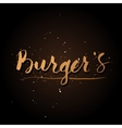 Handwriting Burgers logo vector image