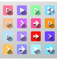 Set arrow icons - flat UI for web and mobile vector image