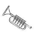 trumpet music instrument vector image