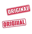 Two realistic Original grunge rubber stamps vector image