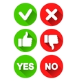 Yes and No Icons vector image vector image