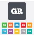 Greek language sign icon GR Greece translation vector image vector image