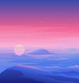 Sea Sunset Landscape vector image