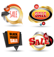 Sale banner set Can use element vector image vector image