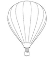 Air balloon outline drawing vector image