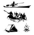 camping rafting labels logos emblems vector image