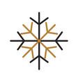 christmas snow snowflake winter decoration golden vector image