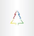 colorful christmas tree icon design symbol vector image