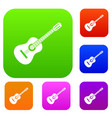guitar set collection vector image