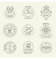 Hipster style handmade beer and craft brewery logo vector image