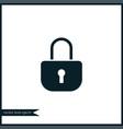 lock icon simple vector image