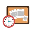 memo board office isolated icon design vector image