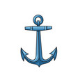 metal sailing boat anchor cartoon vector image
