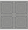 Rotating Squares Optical Seamless Pattern vector image