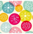 seamless snowflakes christmass pattern vector image