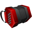 red concertina isolated on white vector image