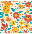 Cartoon Floral Pattern vector image vector image