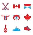 Set of flat icons on white background Canada vector image