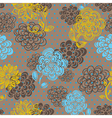 Floral seamless pattern in retro style vector image vector image