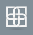 Stylized abstract white icon for design vector image