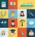 Set of Graduation Celebration Elements vector image