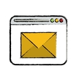 drawing page web email message communication vector image
