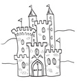 Fairytale castle kingdom cartoon style vector image