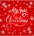 hand written lettering merry christmas vector image