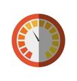 pressure gauge device icon vector image