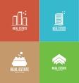 Real estate logo design set vector image