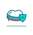 Antibacterial protection of teeth vector image