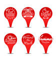 Navigation pins color collection Vacation concept vector image vector image