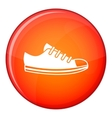 Canvas sneaker icon flat style vector image