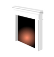 A fireplace vector image vector image