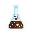 medical glass tube cute cartoon character vector image