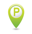 parking sign green pointer vector image vector image