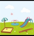 playground vector image vector image