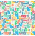 Brazilian favela Bright colored seamless pattern vector image