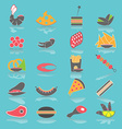Colorful Flat Food Snacks vector image