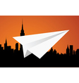 The paper plane vector image
