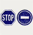 Two road signs vector image