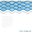 Abstract waved template vector image