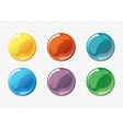 Cartoon soap bubble set vector image